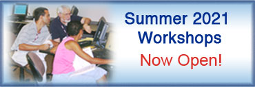 Summer 2021 Workshops Now Open